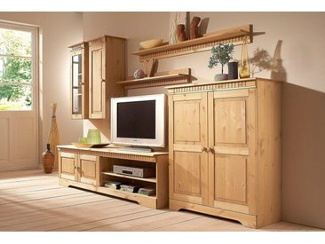 Home affaire Wohnwand, (Set, 4-tlg), Set aus: 2 Hängeschränken, Lowboard und Kommode, natur, gelaugt-geölt