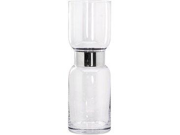 EDZARD Windlicht »Max«, Kristallglas mit Platinrand