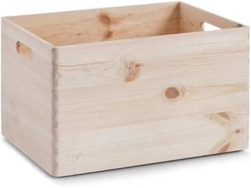 Zeller Present Holzkiste, aus Nadelholz, natur, 40x30x24 cm, natur