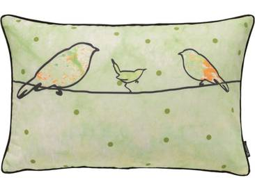 emotion textiles Kissenhülle »Crazy Birds«, grün, Polyester, grün