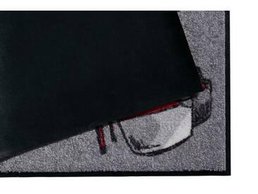 Salonloewe SALONLOEWE Fußmatte, grau, grau/rot
