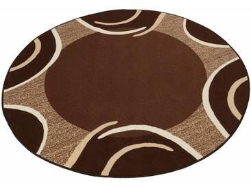 THEKO Teppich »Loures«, rund, Höhe 6 mm, braun, 6 mm, dunkelbraun