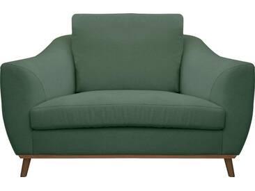DELAVITA Delavita Sessel »Sarah« in skandinavischem Design mit Holzbeinen, grün, grün