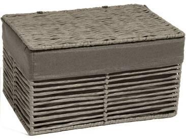Franz Müller Flechtwaren Aufbewahrungsbox, mit Deckel, grau, 30x20x17 cm, grau