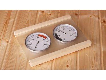 Karibu KARIBU Klimamessstation »Premium«, mit Thermometer und Hygrometer, natur, natur