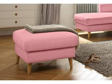 Home affaire Hocker »Marseille«, in skandinavischem Stil, in 3 Bezugsqualitäten, Holz-Beine, rosa, rosé