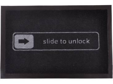 HANSE Home Fußmatte »Unlock«, rechteckig, Höhe 7 mm, rechteckig, schwarz, 7 mm, schwarz