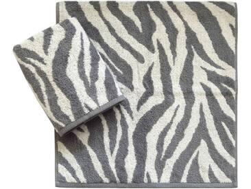 Dyckhoff Handtücher »Zebra«, in Zebrastreifen-Optik, grau, Walkfrottee, grau