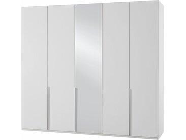 Wimex Kleiderschrank »New York« mit Schubkasteneinsatz und Einlegeböden, weiß, 225x208x58 (BxHxT) cm, 5-türig, weiß