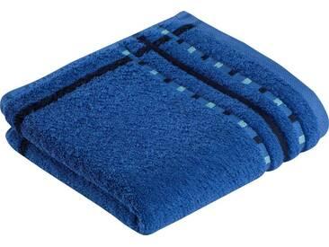 Vossen Handtücher »Atletico«, mit aufwändiger Bordüre, blau, Wirkfrottee, orbit