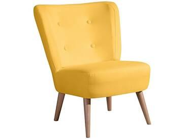 Max Winzer® Stuhlsessel im Retro-Design »Nikki«, mit Holzbeinen, gelb, gelb