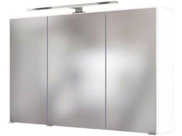 HELD MÖBEL Spiegelschrank »Baabe«, Breite: 100 cm, mit LED-Beleuchtung, weiß, weiß