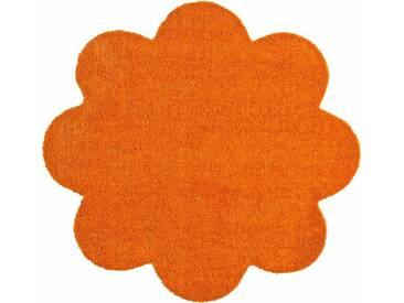 HANSE Home Fußmatte »Deko Soft«, blumenförmig, Höhe 7 mm, saugfähig, waschbar, orange, 7 mm, orange