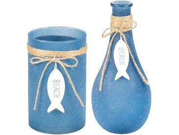 Vase und Windlicht 2-tlg.-Set