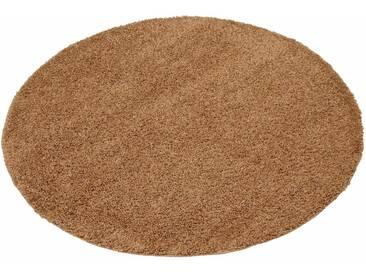 my home Hochflor-Teppich »Bodrum«, rund, Höhe 30 mm, natur, 30 mm, sand
