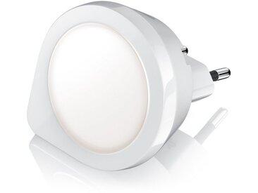 BEARWARE Nachtlicht mit integriertem Dämmerungs-/Helligkeitssensor »Nachtlampe mit warmweißen LED«, weiß, weiß