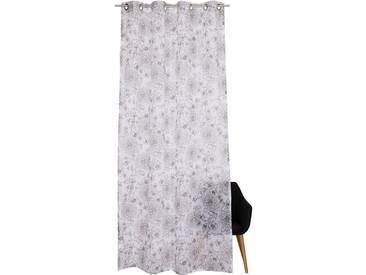 Esprit Vorhang »E-Maray«, Ösen (1 Stück), mit feingezeichnetem Blumenmuser, weiß, Ösen, transparent, weiß