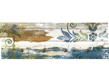 Artland Wandgarderobe »Jule: Retro Verzierungen in blau und orange«, blau, 30 x 90 x 2,8 cm, Blau
