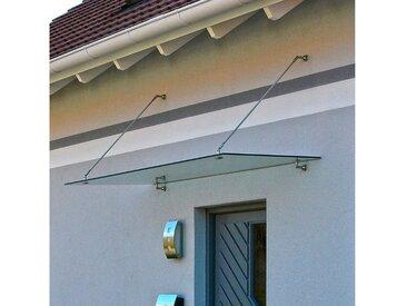 HOME DELUXE Vordach , Edelstahl, Dachneigung: 80° - 85°, weiß, 200 cm, weiß