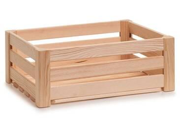 Zeller Present Holzkiste »Leisten«, hochwertiges Kieferholz, natur, 40x30x15 cm, natur