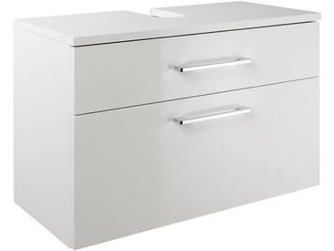 heine home Waschbeckenunterschrank hochglänzend, weiß, ca. 45/70/38 cm, weiß