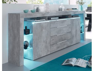 Places of Style Sideboard, grau, Breite 220 cm, Beton-Optik