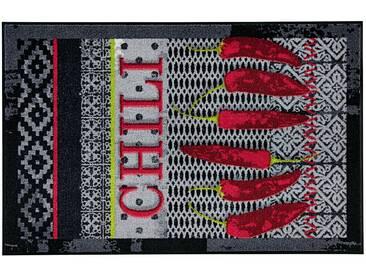 Salonloewe SALONLOEWE Fußmatte, schwarz, schwarz/rot