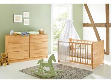 Pinolino® Pinolino Babyzimmer Sparset »Natura« extrabreit (2-tlg.), natur, buche vollmassiv, geölt