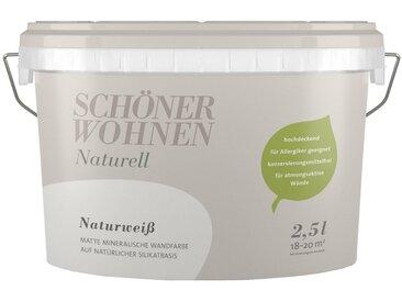 SCHÖNER WOHNEN-Kollektion SCHÖNER WOHNEN FARBE Wand- und Deckenfarbe »Naturell Naturweiß«, 2,5 l, weiß, Naturweiß