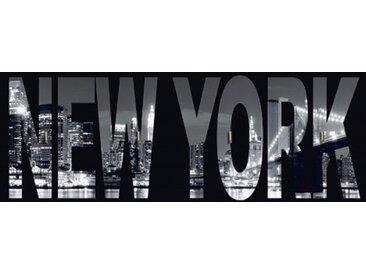 Artland Schlüsselbrett »Städte Amerika NewYork Fotografie Schwarz/Weiß«, weiß, 14,8x40x1,6 cm, Weiß