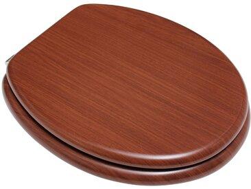 ADOB WC-Sitz »Mahagoni«, mit messingverchromten Scharnieren, braun, braun