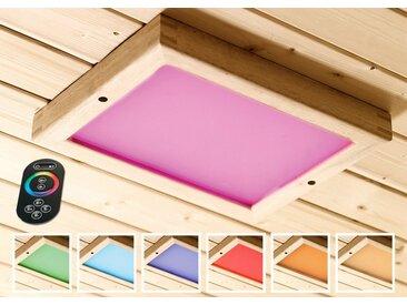 Karibu KARIBU Farblichtanwendung »Premium LED«, B/T/H: 24/32/3,8 cm, natur, 24 cm x 3.8 cm x 32 cm, natur