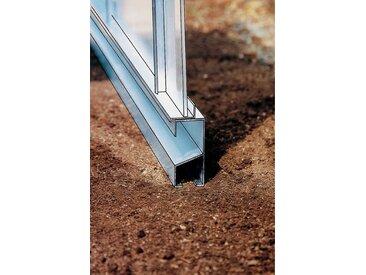 Beckmann Fundamentrahmen, BxT: 256x504 cm, aluminiumfarben