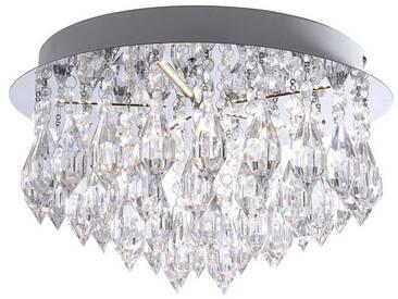 Leuchten Direkt LEUCHTEN DIREKT LED-Deckenleuchte, Kristall-Opitk, 5-flammig »KADYA«, silberfarben, chromfarbig