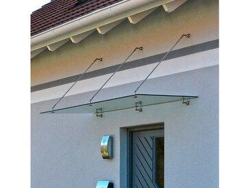 HOME DELUXE Vordach , Edelstahl, Dachneigung: 80° - 85°, weiß, 300 cm, weiß