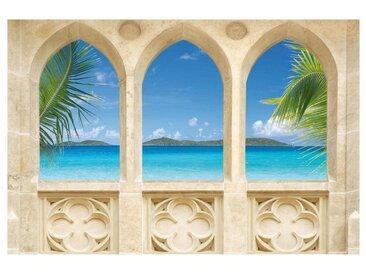 Bilderwelten Vliestapete »Verschiedene Top Strandmotive«, bunt, Ocean View, 190x288 cm Vlies-Premium, Farbig