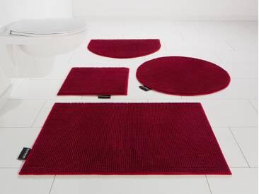 Bruno Banani Badematte »Maja« , Höhe 15 mm, rutschhemmend beschichtet, fußbodenheizungsgeeignet, rot, 15 mm, cherry