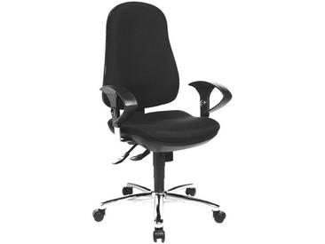 TOPSTAR Bürostuhl mit Armlehnen »Support Deluxe«, schwarz, schwarz