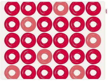 Contento Platzset »Jay - Ringe« (Set 2-tlg), rot, Silikon, weiß-rot