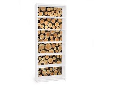 Bilderwelten Möbelfolie für IKEA Billy Regal »Baumstämme«, bunt, Farbig