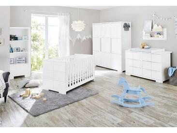 Pinolino® Pinolino Babyzimmer-Set (3-tlg.), Kinderzimmer, »Polar extrabreit groß«, weiß, weiß