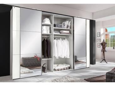 Fresh To Go Wimex Schwebetürenschrank »Escape«, weiß, Breite 350 cm, mit Aufbauservice, mit Aufbauservice, weiß/Spiegel