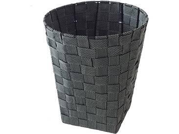 Franz Müller Flechtwaren FRANZ MÜLLER FLECHTWAREN Papierkorb, aus Nylongeflecht, rund, schwarz, black snow