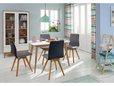 Guido Maria Kretschmer Home&Living GMK Home & Living Esstisch «Calluna», im modernen, skandinavischen Design, in verschiedenen Größen und Farben, weiß