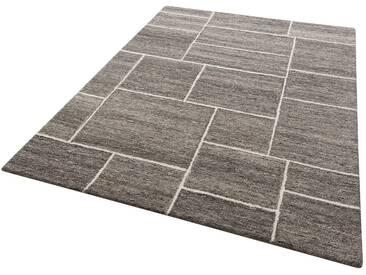 Theko Exklusiv Teppich »Mauro«, rechteckig, Höhe 14 mm, grau, 14 mm, grau