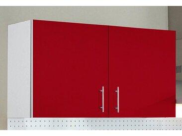 wiho Küchen Hängeschrank »Kiel« 100 cm breit, rot, Burgund/Hellgrau
