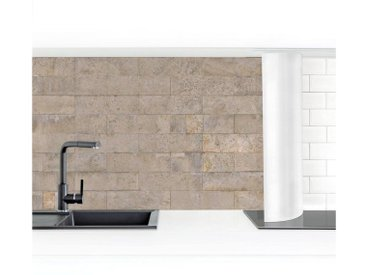 Bilderwelten Küchenrückwand »Ziegel Tapete Beton«, braun, 100x300cm, Smart, Braun