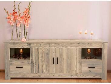 Home affaire Sideboard »Larengo«, Breite 210 cm, mit 2 Türen, 2 Schubladen und 2 Fächern, grau, grau/wachs