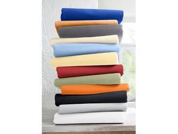 Schlafgut Spannbettlaken »Mako-Jersey«, temperaturausgleichend, orange, Mako-Jersey, orange