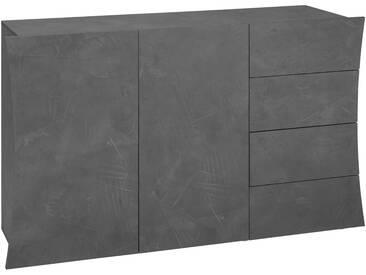 Tecnos Kommode »Arco«, Breite 130 cm, grifflose Optik, grau, zementfarben